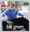 Live Green Subject: Child learning about Compost; Location: Madison, WI; Date: 2004; Photographer: Amanda Fuller