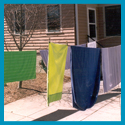 Subject: Laundry drying in sun; Location: Madison, WI; Date: Spring 2003; Photographer: Sonya Newenhouse